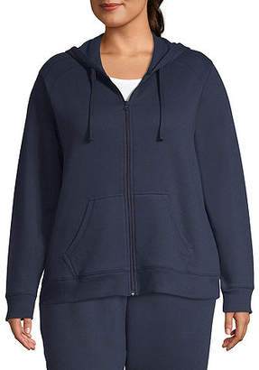 ST. JOHN'S BAY SJB ACTIVE Active Fleece Zip Up Hoodie - Plus