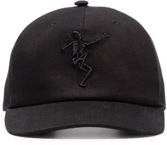 Alexander McQueen black dancing skeleton baseball cap