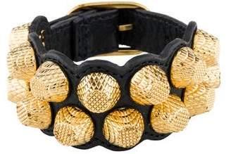 Balenciaga Wide Leather Bracelet