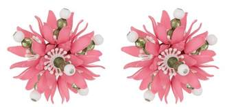Moschino Floral Clip-On Earrings