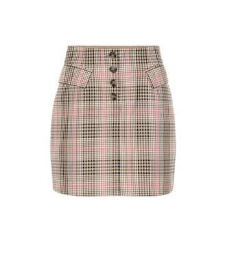 090f0fd220 Baum und Pferdgarten Shani checked cotton-blend miniskirt