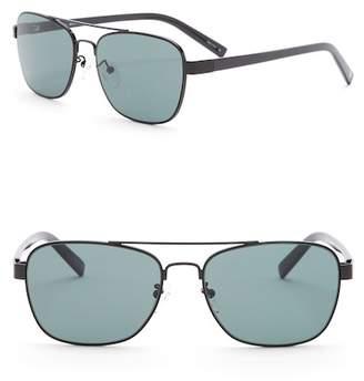 Joe's Jeans Modified Aviator 56mm Sunglasses