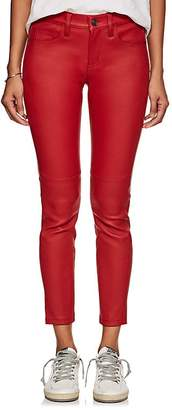 Current/Elliott Women's The Mid-Rise Stiletto Leather Skinny Jeans