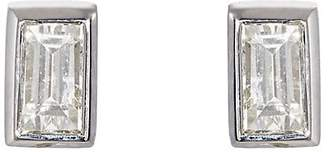 Ileana Makri Women's Baguette White Diamond Stud Earrings