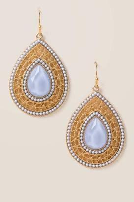 Kaitlyn Filigree Beaded Earrings - Periwinkle