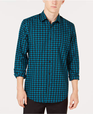Alfani Men's Regular Fit Lewis Plaid Shirt, Created for Macy's