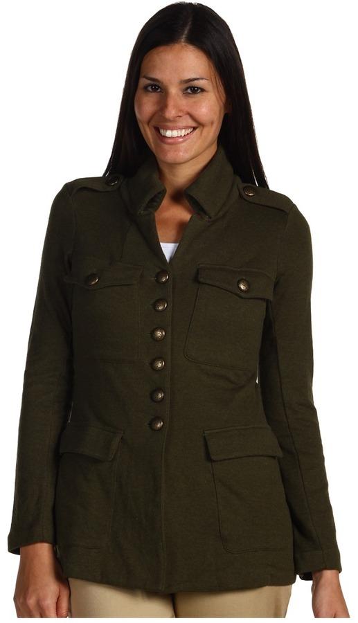 Nic+Zoe - Military Knit Jacket (Peat Moss Heather) - Apparel