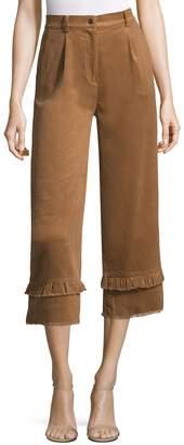 Manoush Women's Velours Cotele Pants