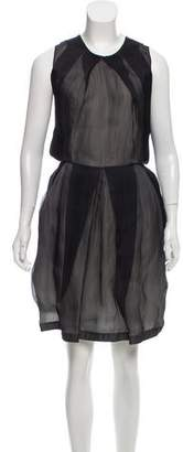 Rue Du Mail Silk Pleat Accented Dress w/ Tags