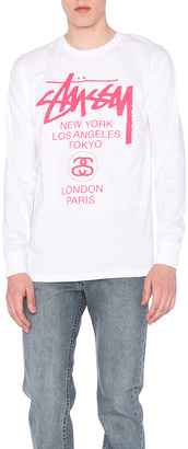 Stussy World Tour L/S Tee $35 thestylecure.com