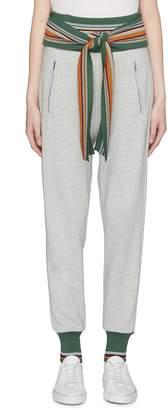 3.1 Phillip Lim Tie waist stripe border jogging pants