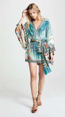 Camilla Kimono Sleeve Playsuit with Obi Belt