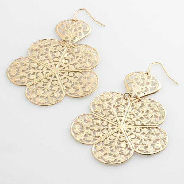 Apt. 9® Filigree Floral Chandelier Earrings