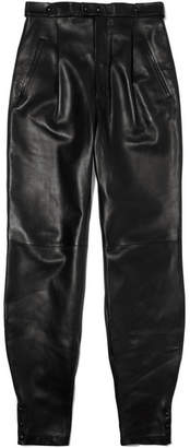 Givenchy Leather Tapered Pants - Black