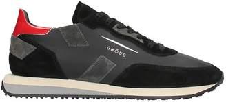 Ghoud GHOUD Black Suede And Fabric Sneakers