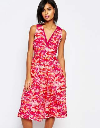 Whistles Delphi Organza Dress in Ink Print $284 thestylecure.com