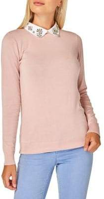 Dorothy Perkins Embellished Club Collar Sweater