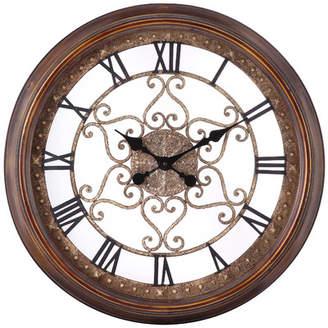 Cooper Classics Oversized 24.5 Audrey Round Wall Clock