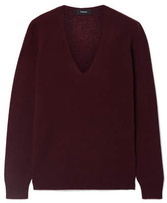 Theory Adrianna Cashmere Sweater - Burgundy