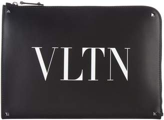 Valentino Leather Document Case