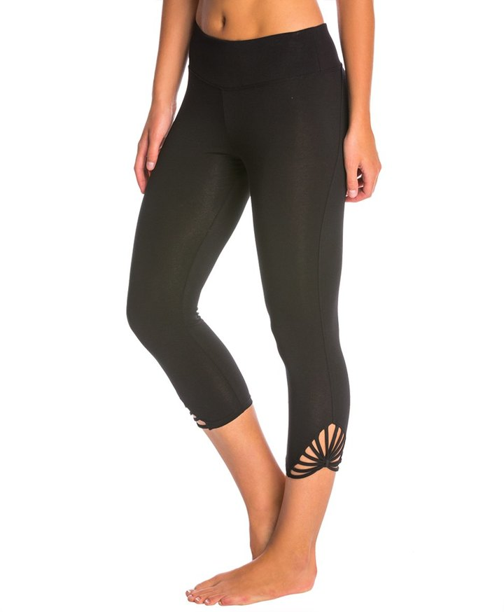 Betsey Johnson Strappy Sunburst Crop Yoga Leggings 8146745