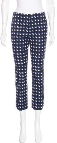 pradaPrada Printed Crop Pants
