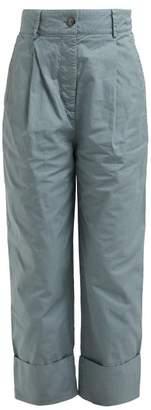 Acne Studios Phaedra Tapered Cotton Chino Trousers - Womens - Green