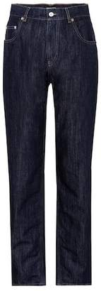 Miu Miu Embellished high-rise jeans