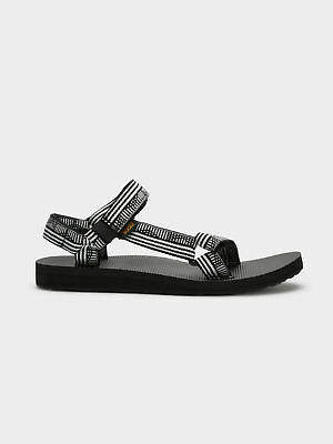 Teva New Womens Universal Sandals In Campo Black And White Womens