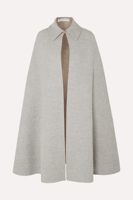 J.W.Anderson Wool And Cashmere-blend Cape - Light gray