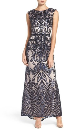 Women's Vince Camuto Embroidered Sequin Mesh Gown $308 thestylecure.com
