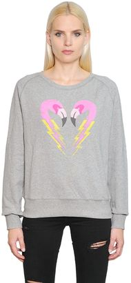 Flamingo Printed Cotton Sweatshirt $128 thestylecure.com