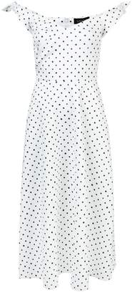 Saloni polka-dot ruffle dress