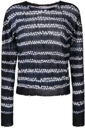 Helmut Lang cashmere knit shibori sweater