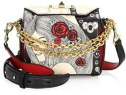 Alexander McQueen Eve Print Leather Box Bag