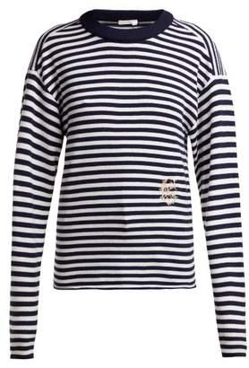 Chloé Mariniere Striped Cashmere Sweater - Womens - Navy Stripe