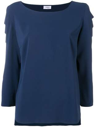 Akris Punto scalloped sleeve blouse