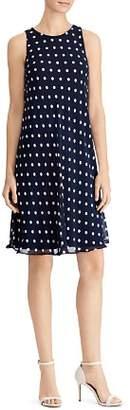 Ralph Lauren Polka-Dot Swing Dress