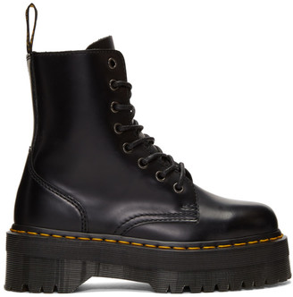 Dr. Martens Black Jadon Boots $170 thestylecure.com