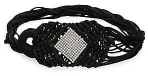 Saint Laurent Women's Embellished Woven Belt