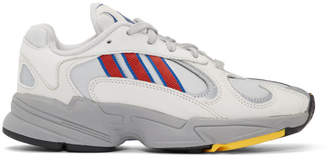 adidas Grey and Red Yung-1 Sneakers