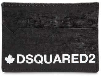 DSQUARED2 Printed Saffiano Leather Card Holder