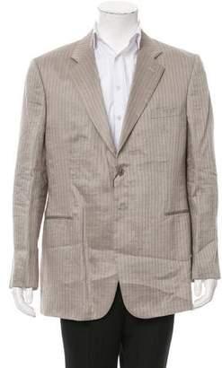 Giorgio Armani Linen Pinstripe Blazer