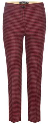 Etro Cropped wool-blend trousers