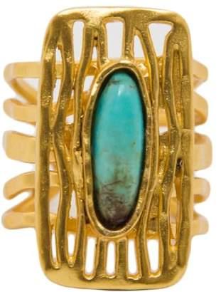 Christina Greene - Deco Shield Ring in Turquoise