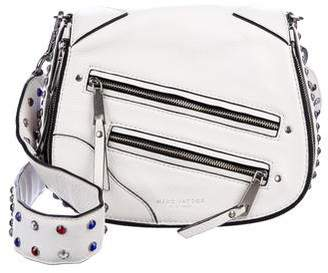 Marc Jacobs Studded Grained Leather Saddle Bag