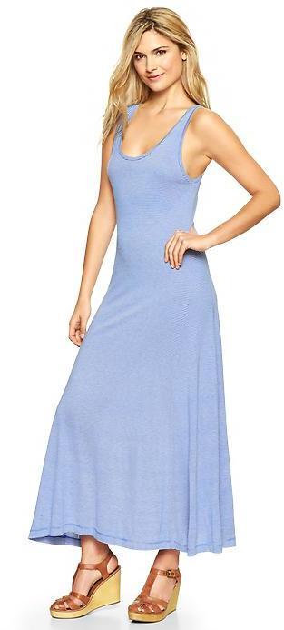 Gap Stripe maxi dress