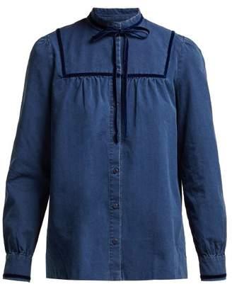 A.P.C. Abott Cotton Blouse - Womens - Blue