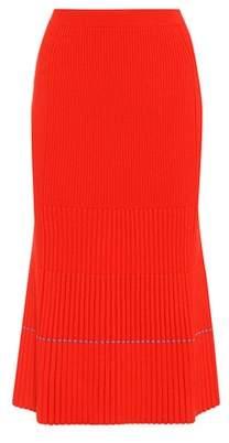 Victoria Beckham Ribbed wool skirt