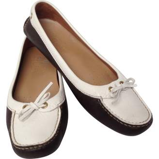 Car Shoe Brown Leather Ballet flats